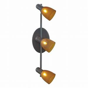 Eglo benita light bronze lighting track with amber