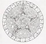 Pentagram Pentacle Coloring Pagan Celtic Drawings Zoeken sketch template