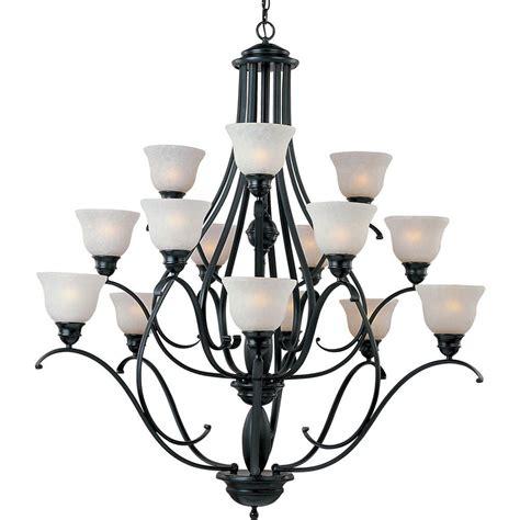 and black chandelier progress lighting santiago collection 9 light forged black