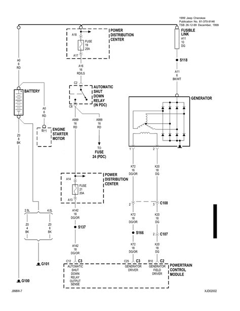 Charging System Wiring Diagram For 1998 Jeep Wrangler by 1999 Jeep Grand Limited 4 7l Won T Start Jeep