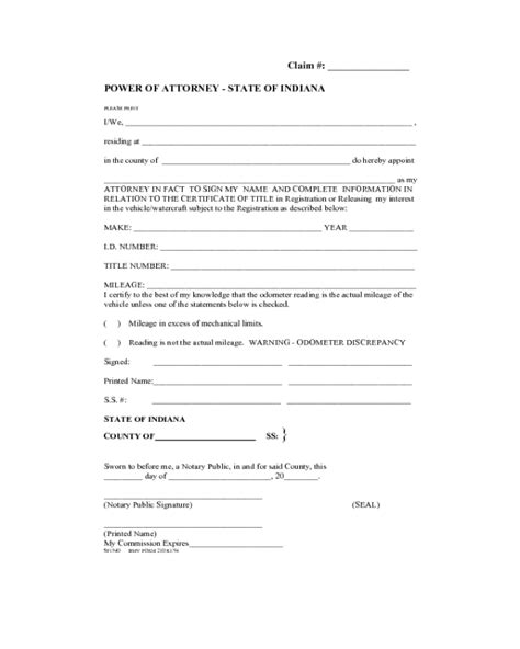 general power  attorney form fillable printable