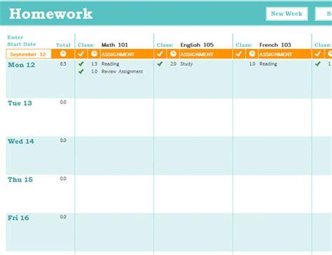 homework diary online homework schedule office templates