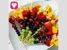 Regenbogen Obstspieße für den Kindergeburtstag balloonasBlog
