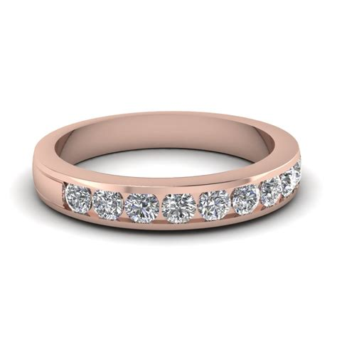 Round Diamond Channel Wedding Band In 14k Rose Gold. 2 Ct Anniversary Band. Thread Necklace. Medieval Engagement Rings. 24 Carat Gold Jewellery. Plain Gold Band Ring. Rose Gold Diamond Eternity Band. Jewelry Brooch. Wide Band Wedding Rings