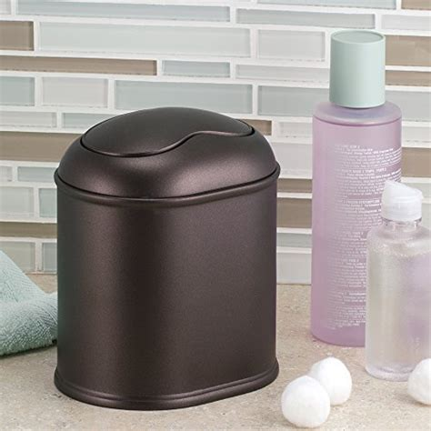 Bronze Bathroom Trash Can With Lid by York Vanity Countertop Waste Basket Trash Can Bin Luxury