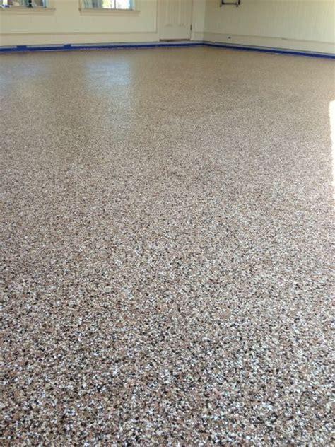 Garage Epoxy Flooring. Full Broadcast Flake Epoxy Floor