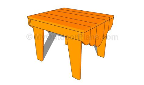 adirondack table plans  outdoor plans diy shed