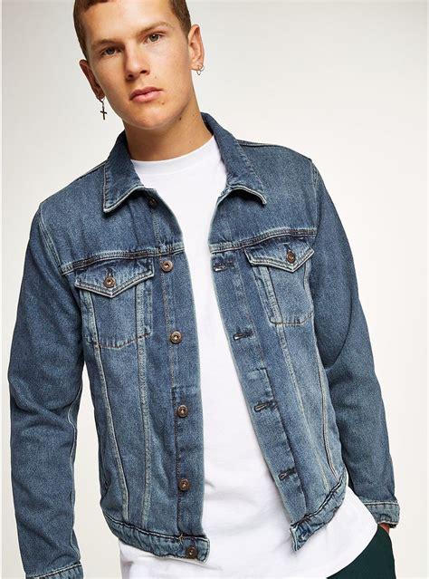 Kemeja Topman Pocket Denim blue denim jacket topman