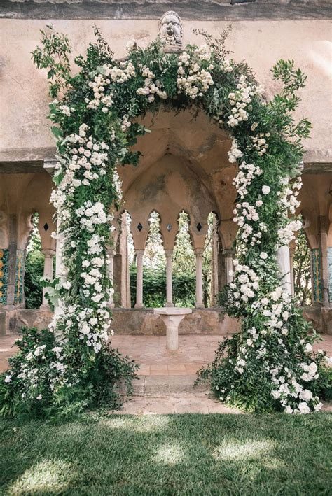 Villa Cimbrone Wedding Filled with Greenery and a Large