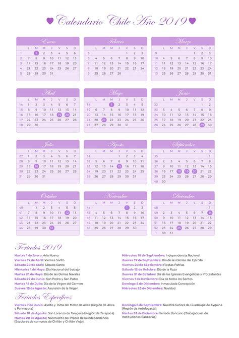 calendario chile ano feriados
