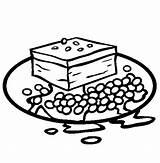 Brownie Beans Baked Coloring Brownies Cookies Template Colorir Tudodesenhos Desenho Imprimir Templates sketch template
