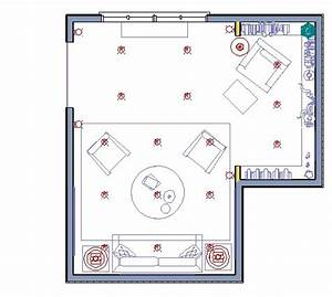 adding interior lighting With lamp floor plan symbol