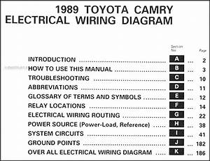 1989 Toyota Camry Wiring Diagram Manual Original
