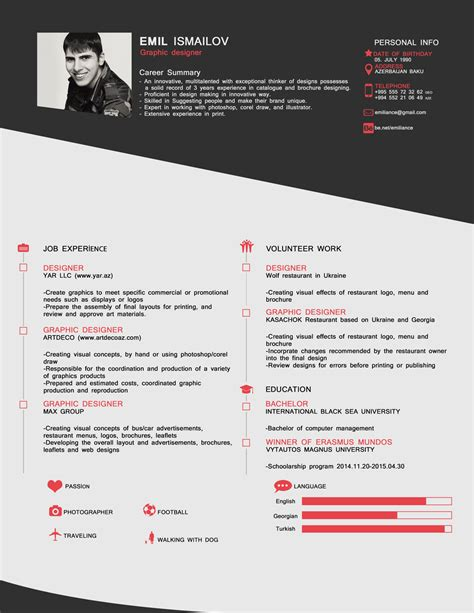 style cv template  psd format good resume