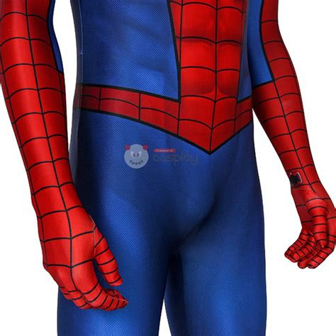 Spiderman Costume Spiderman PS4 Game Cosplay Costume ...