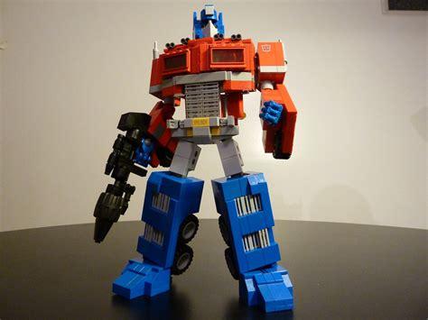 legosaurus optimus prime ultimate lego by chris roach