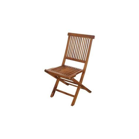 lot de deux chaises pliantes teck naturel  achatvente