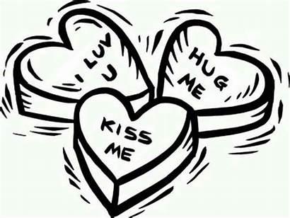 Coloring Hug Kiss Valentine Luv Say Valentines