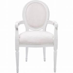 Chaise Fauteuil Avec Accoudoir : chaise avec accoudoirs baroque blanche louis kare design ~ Teatrodelosmanantiales.com Idées de Décoration