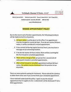 office policies trimark dental clinic janesville wisconsin With dental office cancellation policy letter