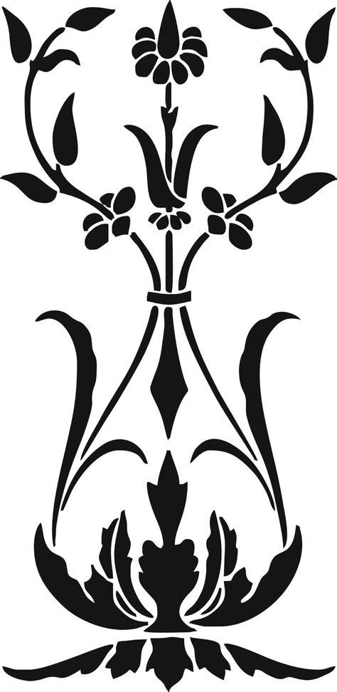 flower stencil patterns vector art jpg image