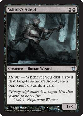 Ashiok Nightmare Weaver Deck Modern by Ashiok S Adept Born Of The Gods Magic The Gathering