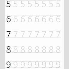 Prek Worksheets Number Tracing