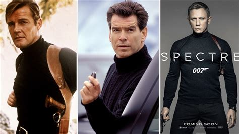 roger moore die another day james bond see style evolution from dr no to spectre