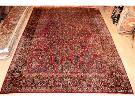 Vintage Persian Sarouk Rug Antique Clock Wooden Queen Bed Frame Metal Vent Covers Club Chairs Uk Forest Park Mall Aircraft Small Chesterfield Sofa Woodside Antiques Auction Farmville Nc