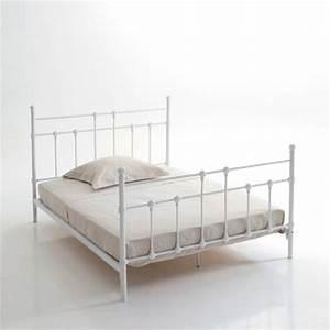 Lit Metal Blanc : lit m tal 140 x 190 cm myl ne blanc frais de traitement de commande offerts acheter ce ~ Teatrodelosmanantiales.com Idées de Décoration
