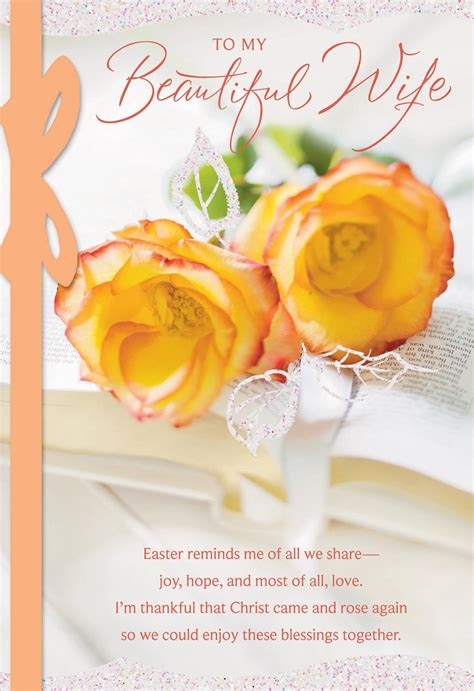 roses  wife religious easter card greeting cards