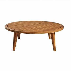 Table Jardin Acacia : table basse de jardin ronde en acacia massif maisons du monde ~ Teatrodelosmanantiales.com Idées de Décoration