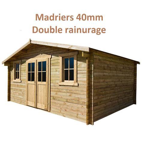 abri de jardin 16m 178 plus en bois 40mm trait 233 teint 233 marron