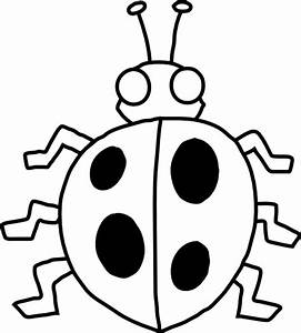 Free Lady Bug Black And White Clip Art - ClipArt Best