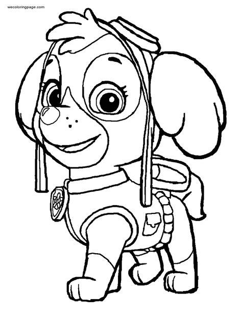 skye aviation pup paw patrol coloring page wecoloringpagecom
