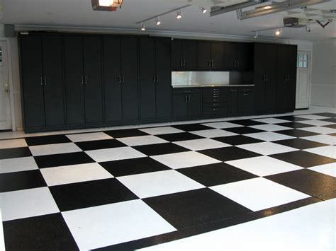 Powder Coated Steel Cabinets & Epoxy Checker Board Floor