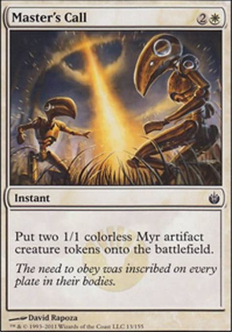 tribal myr copy my draft modern mtg deck