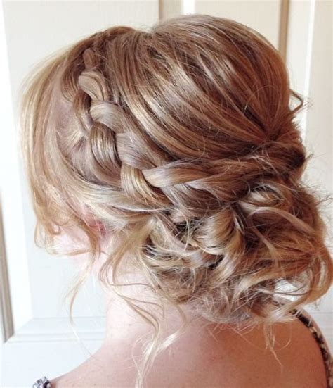Bridesmaid Updo Hairstyles With Braids by Braided Low Updo Wedding Hairstyle Wedding