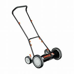 Greenworks 16 In  Manual Push Reel Mower With Bag