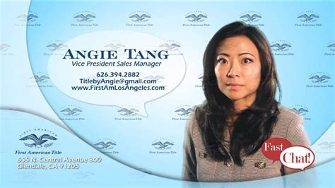 Angie Tang  Fast Chat  First American Title Youtube