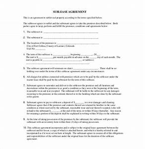 sublease agreement template 10 free word pdf document With subletting contract template