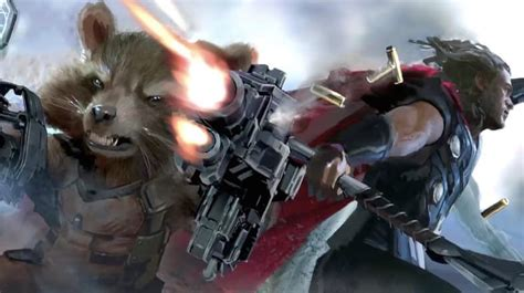 avengers infinity war concept art shows thanos rocket