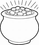 Pot Coloring Gold Printable sketch template