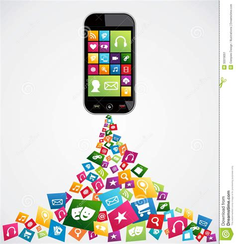 mobile computer applications stock vector image