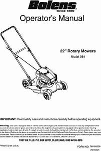 Bolens 11a 084c163 User Manual Mower Manuals And Guides