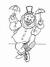 Clown Unicycle Coloring Riding Pages Circus Clowns Colorluna Colouring Carnival Embroidery Google Luna Getcolorings Sheets sketch template