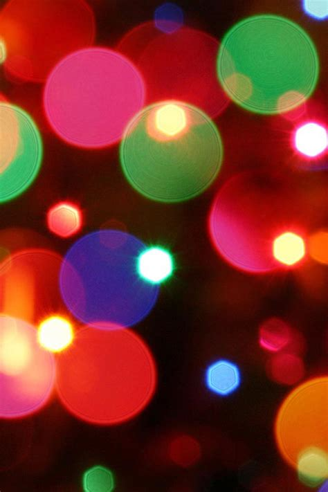 christmas bokeh lights iphone wallpaper hd