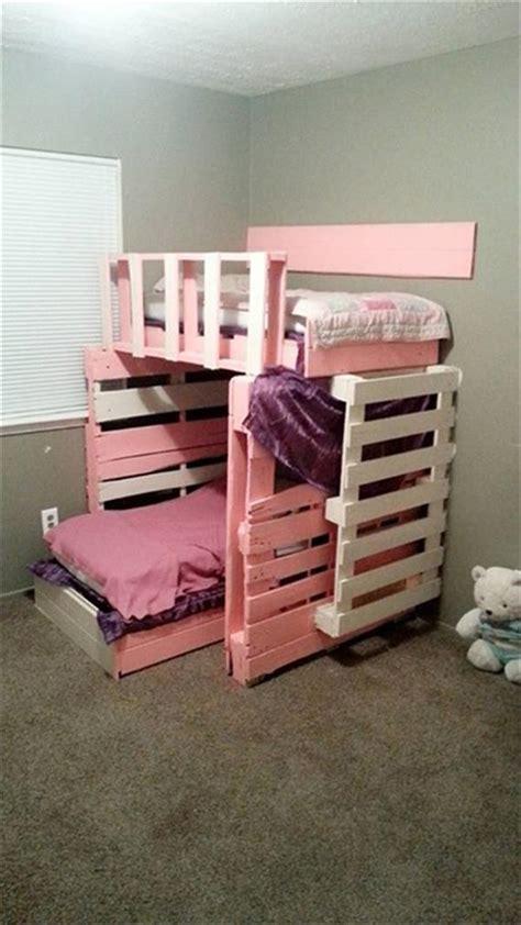 Diy Wooden Pallet Girls Bed  Pallets Designs