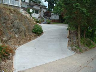 concrete driveway projects captain concrete abbotsford bc