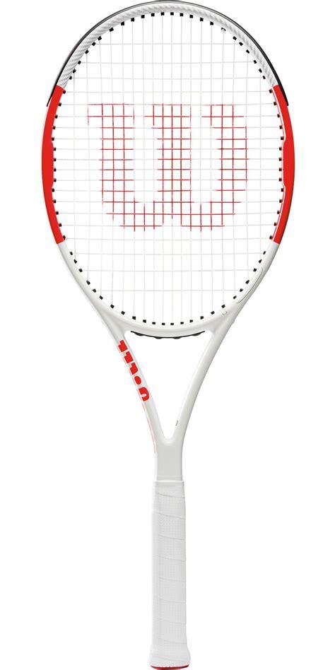 wilson sixone  tennis racket whitered tennisnutscom